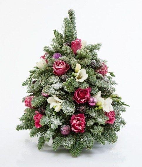 Цветы на елку своими руками 86